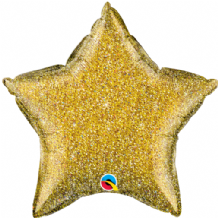 "Gold Glittergraphic Foil Balloon (20"" Star) 1pc"